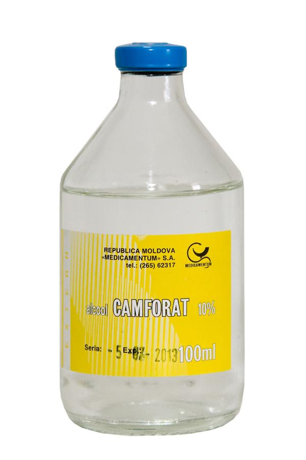 tratament comun cu alcool de camfor