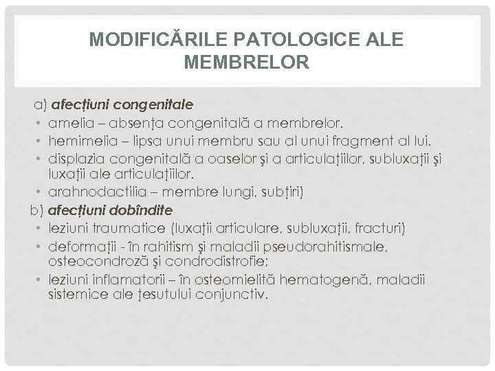 boli congenitale ale oaselor și țesutului conjunctiv