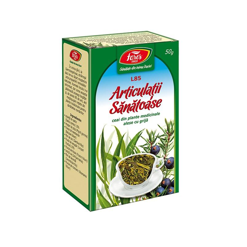 Ceai pentru Articulații Sănătoase, L85, 50 g, Fares : Farmacia Tei